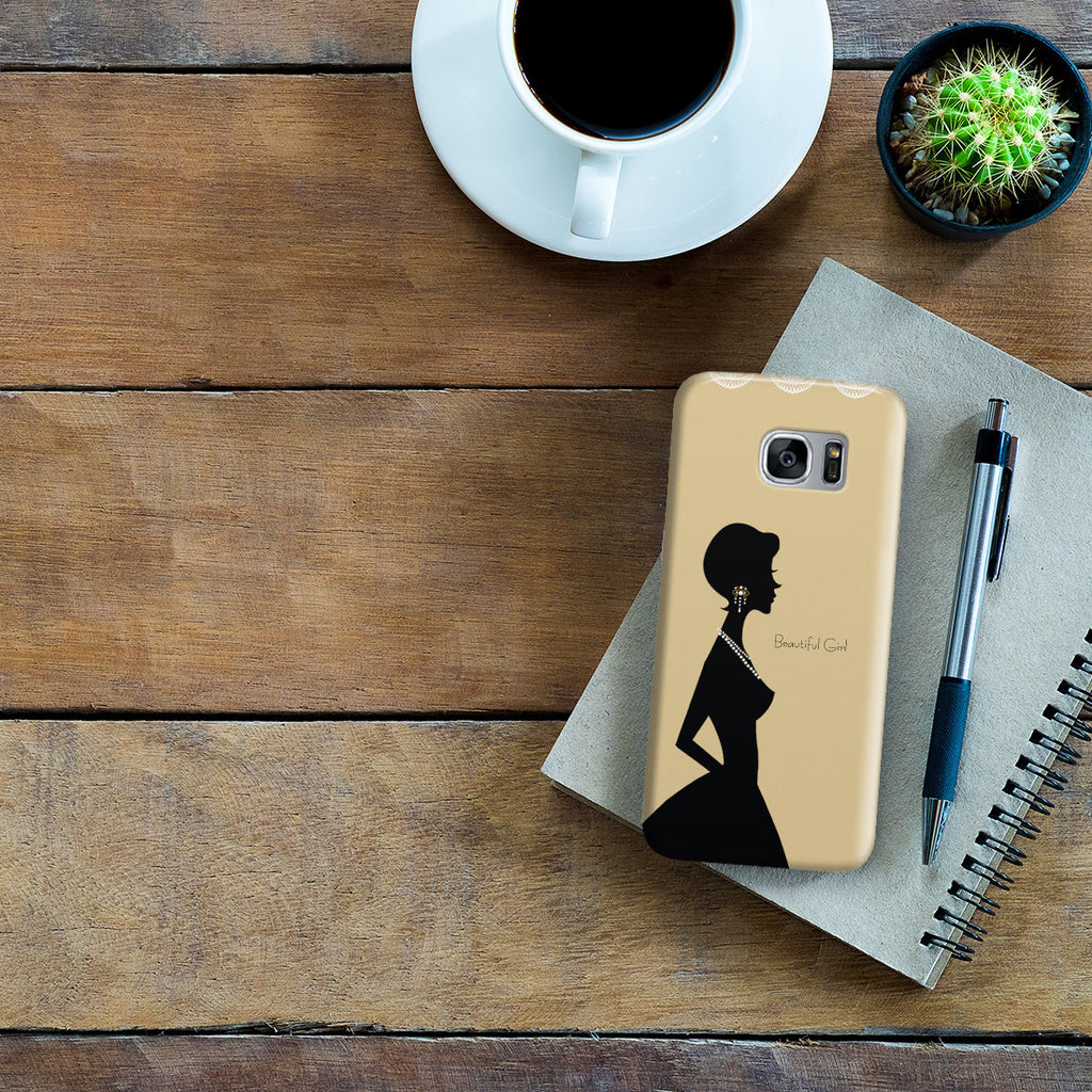 Galaxy S7 Edge Case - Gold Silhouette