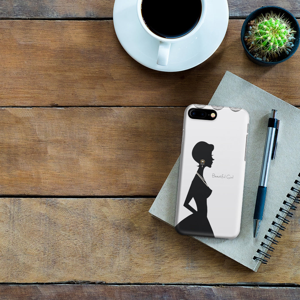 iPhone 7 Plus Case - Silver Silhouette