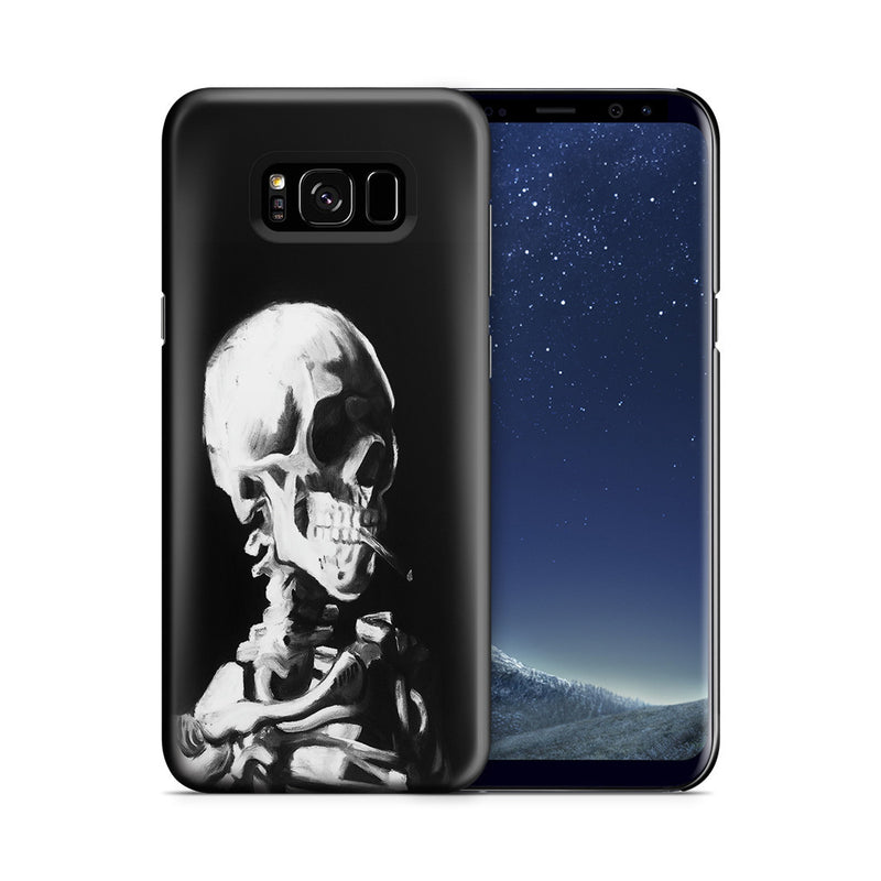 Galaxy S8 Case - Skull of a Skeleton with Burning Cigarette by Vincent Van Gogh