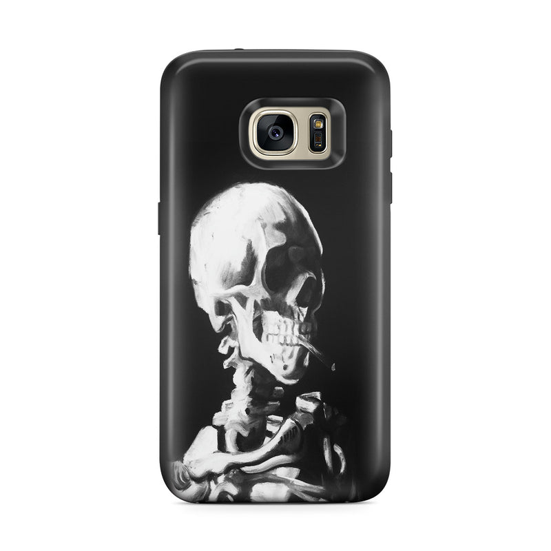 Galaxy S7 Edge Adventure Case - Skull of a Skeleton with Burning Cigarette by Vincent Van Gogh