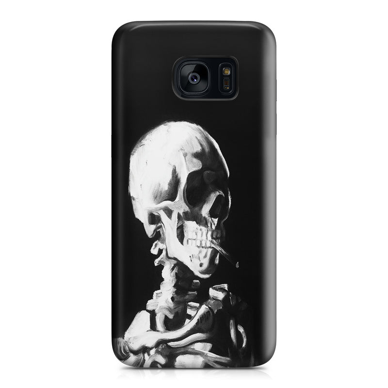 Galaxy S7 Edge Case - Skull of a Skeleton with Burning Cigarette by Vincent Van Gogh