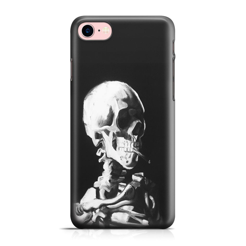 iPhone 8 Case - Skull of a Skeleton with Burning Cigarette by Vincent Van Gogh