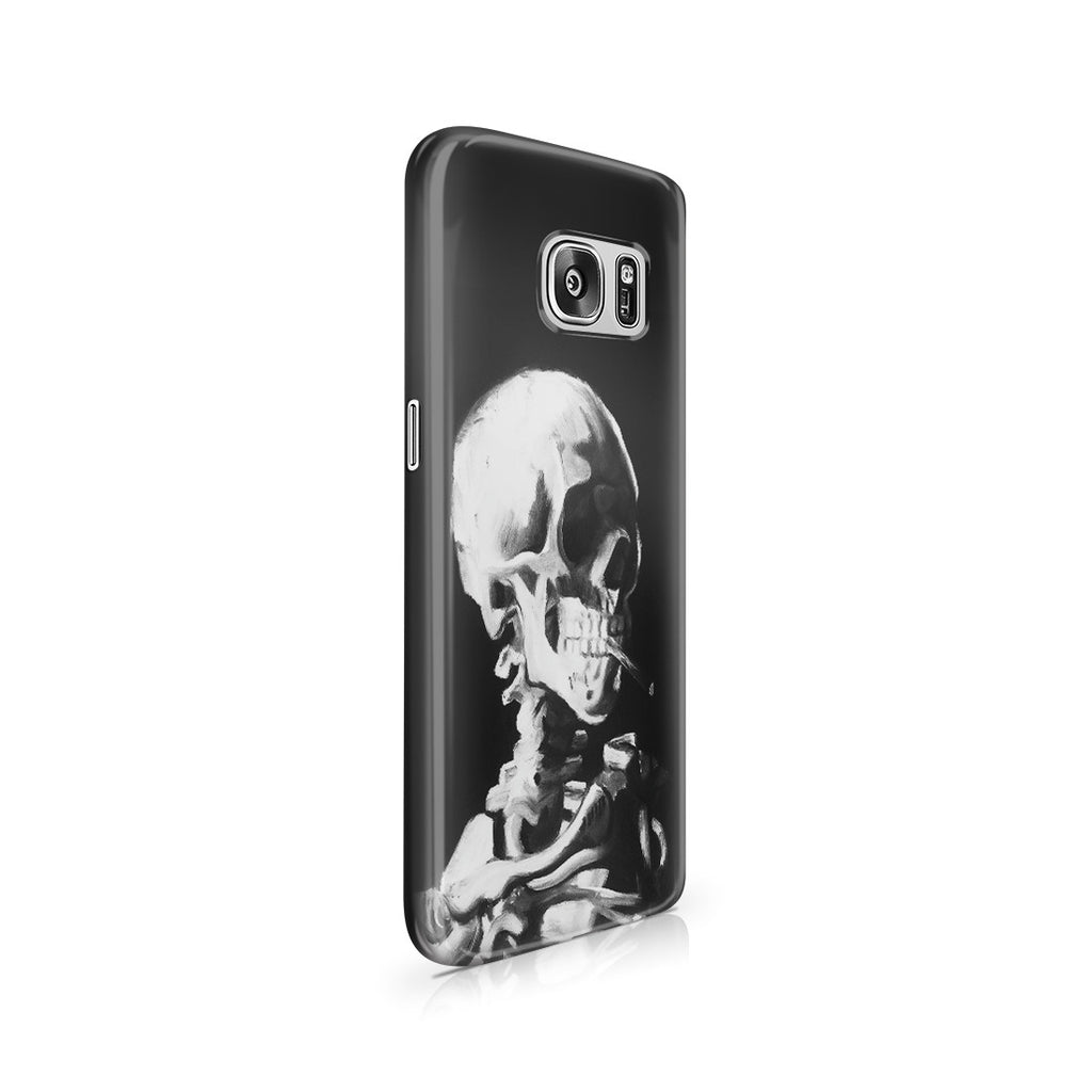 Galaxy S7 Case - Skull of a Skeleton with Burning Cigarette by Vincent Van Gogh