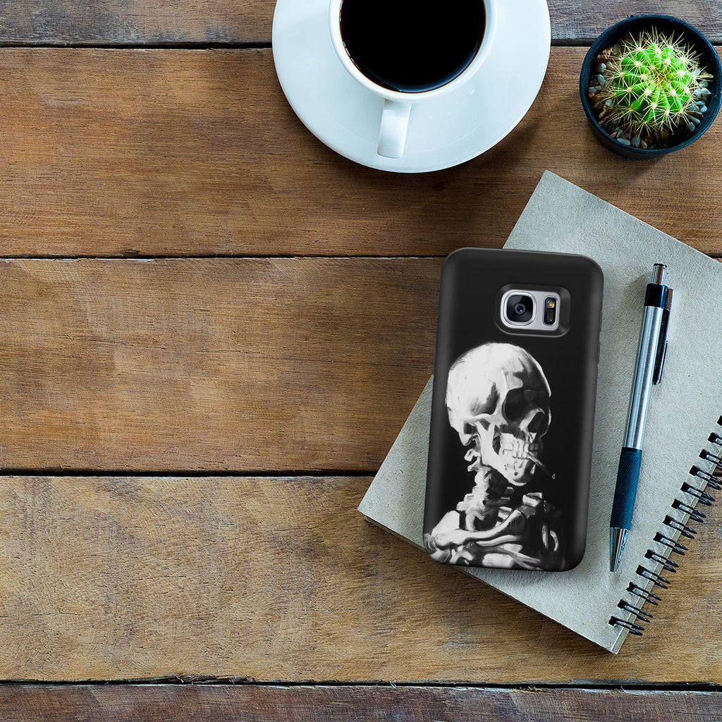 Galaxy S7 Adventure Case - Skull of a Skeleton with Burning Cigarette by Vincent Van Gogh