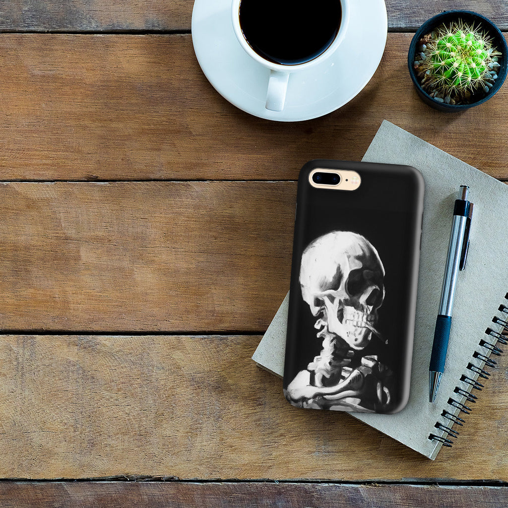 iPhone 7 Plus Adventure Case - Skull of a Skeleton with Burning Cigarette by Vincent Van Gogh
