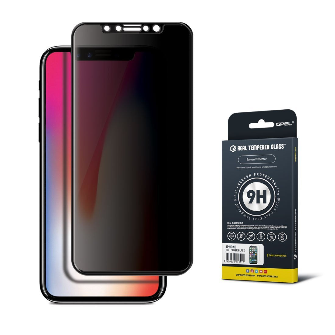 check out 90704 79046 iPhone X Screen Protector - Privacy Edge to Edge Tempered Glass