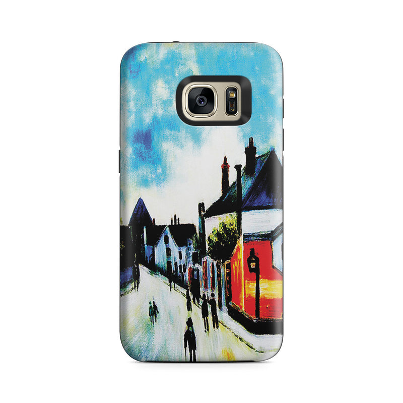 Galaxy S7 Adventure Case - Street In Moret (Porte de Bourgogne from across the Bridge) by Alfred Sisley
