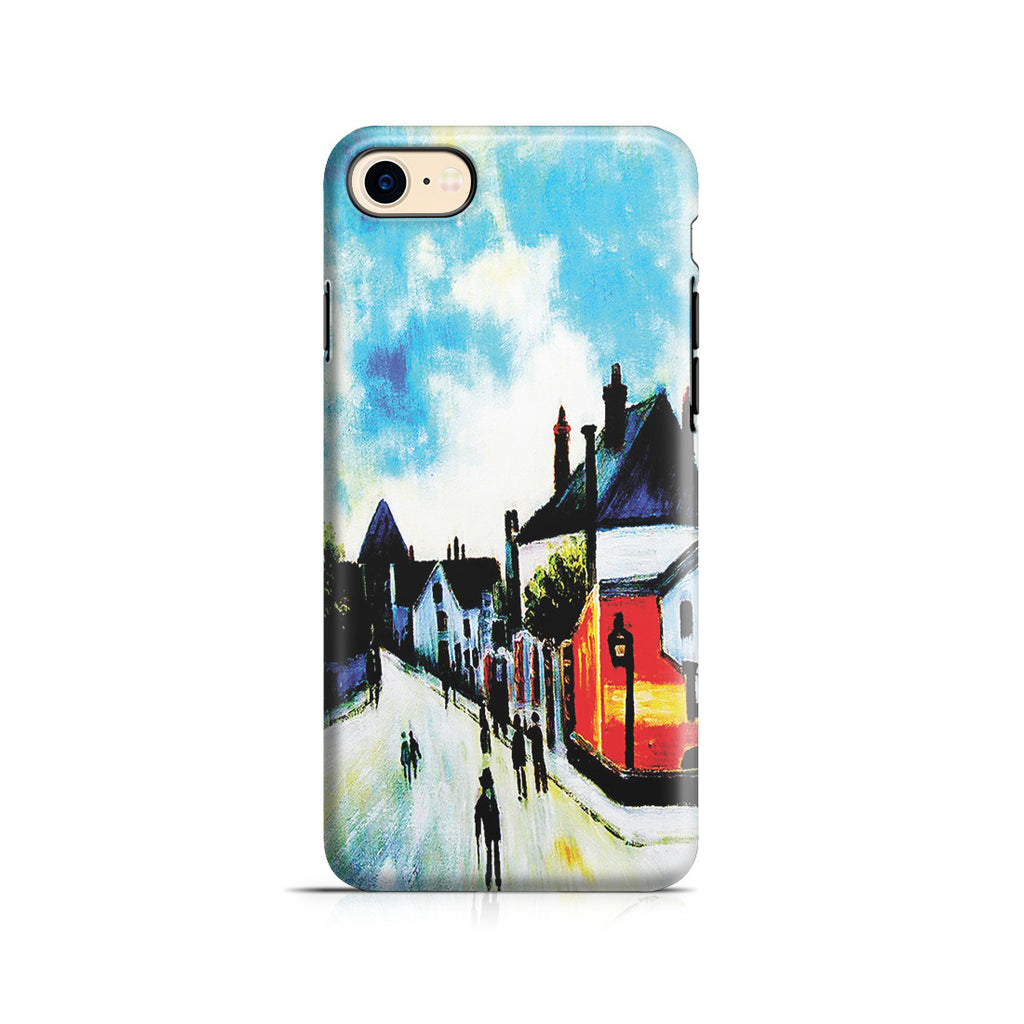 iPhone 7 Adventure Case - Street In Moret (Porte de Bourgogne from across the Bridge) by Alfred Sisley