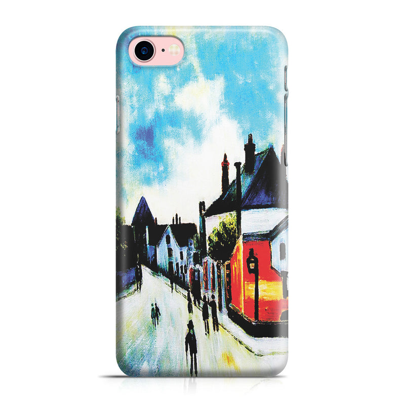 iPhone 7 Case - Street In Moret (Porte de Bourgogne from across the Bridge) by Alfred Sisley