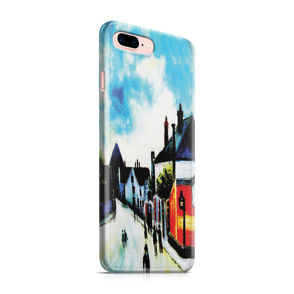 iPhone 7 Plus Case - Street In Moret (Porte de Bourgogne from across the Bridge) by Alfred Sisley