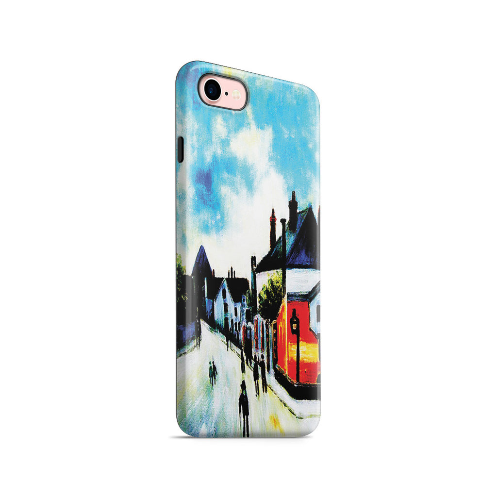iPhone 6 | 6s Adventure Case - Street In Moret (Porte de Bourgogne from across the Bridge) by Alfred Sisley
