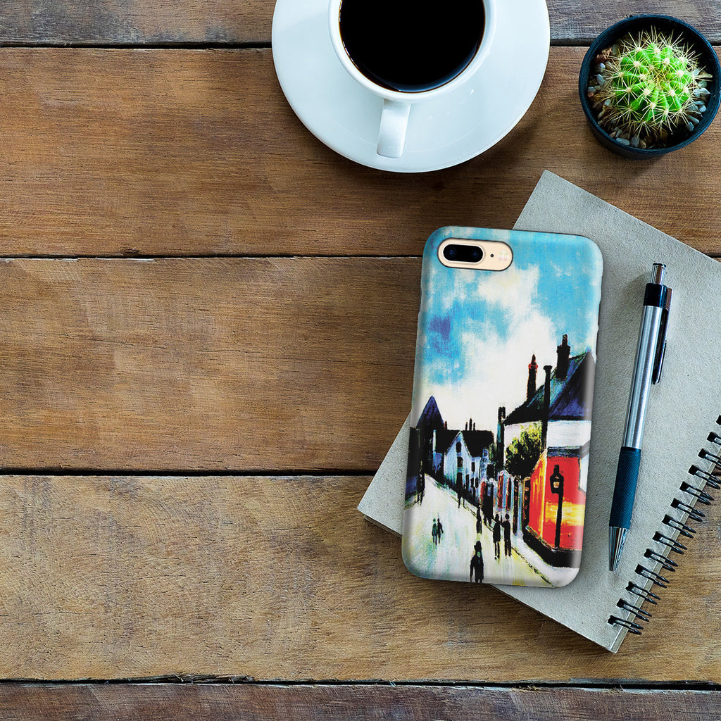 iPhone 7 Plus Adventure Case - Street In Moret (Porte de Bourgogne from across the Bridge) by Alfred Sisley