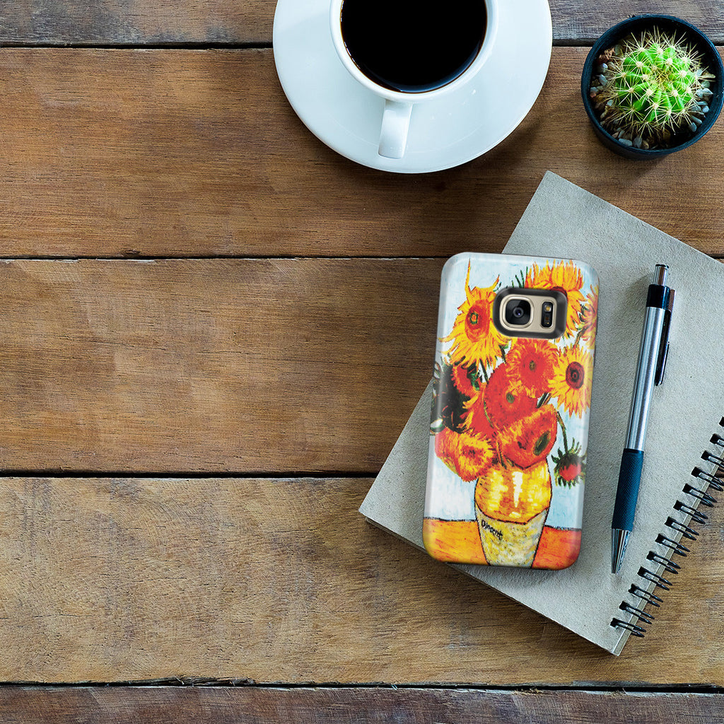 Galaxy S7 Edge Adventure Case - Sunflowers by Vincent Van Gogh