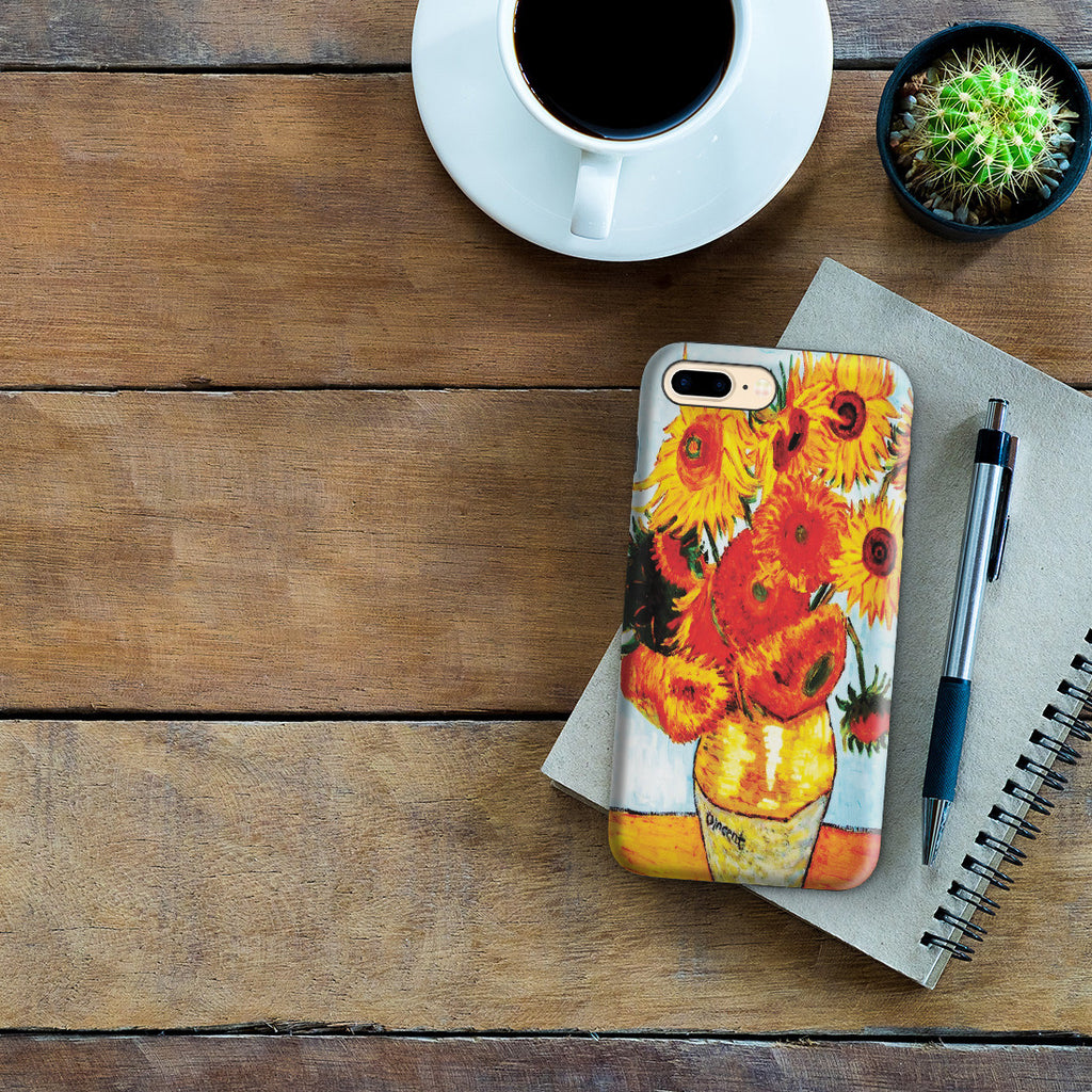 iPhone 7 Plus Adventure Case - Sunflowers by Vincent Van Gogh