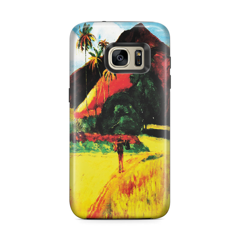 Galaxy S7 Edge Adventure Case - Tahitian Mountains, 1893 by Paul Gauguin