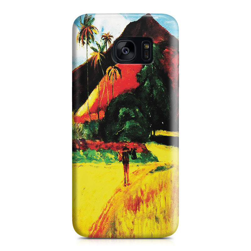 Galaxy S7 Edge Case - Tahitian Mountains, 1893 by Paul Gauguin