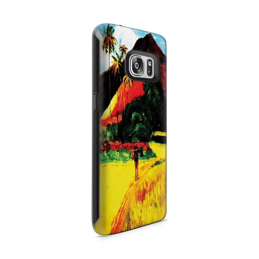 Galaxy S7 Adventure Case - Tahitian Mountains, 1893 by Paul Gauguin
