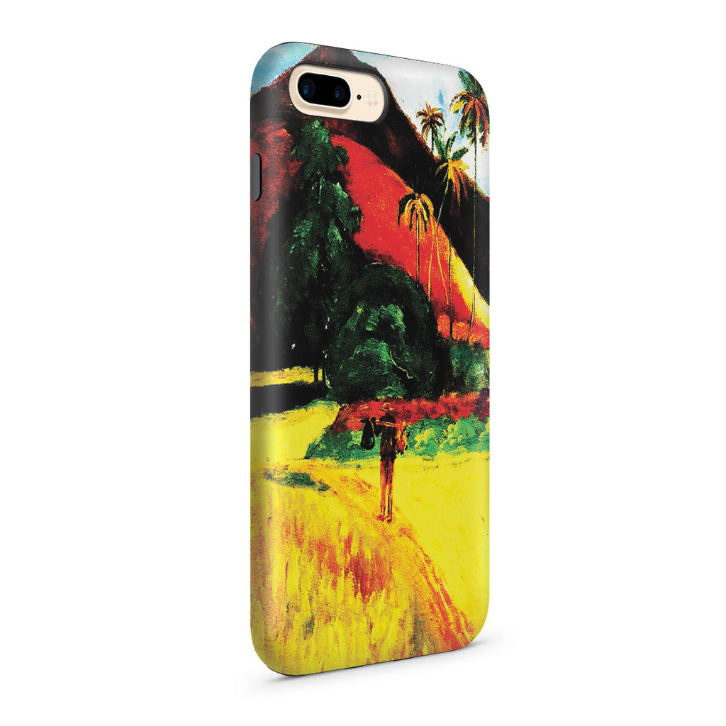 iPhone 7 Plus Adventure Case - Tahitian Mountains, 1893 by Paul Gauguin