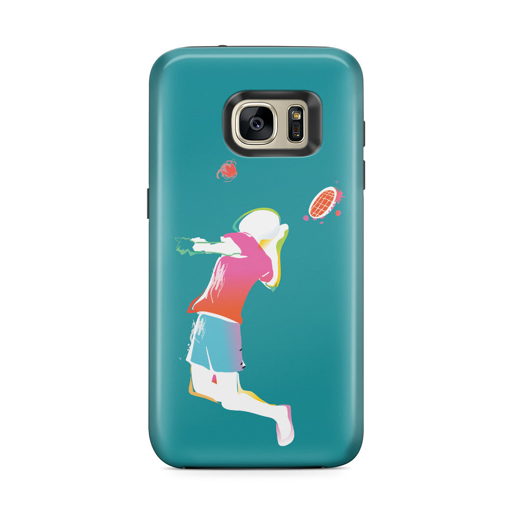 Galaxy S7 Edge Adventure Case - Fire Tennis