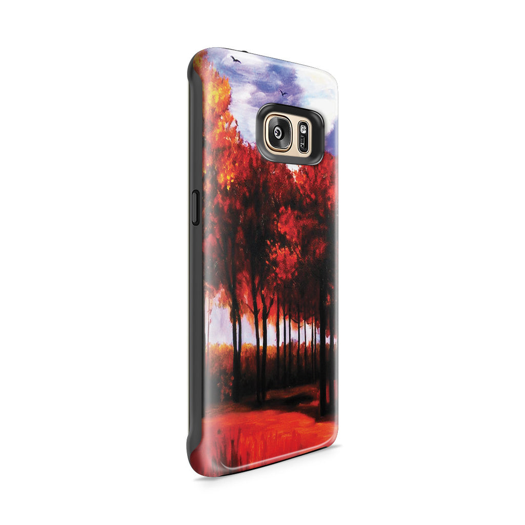Galaxy S7 Edge Adventure Case - Autumn Landscape by Vincent Van Gogh