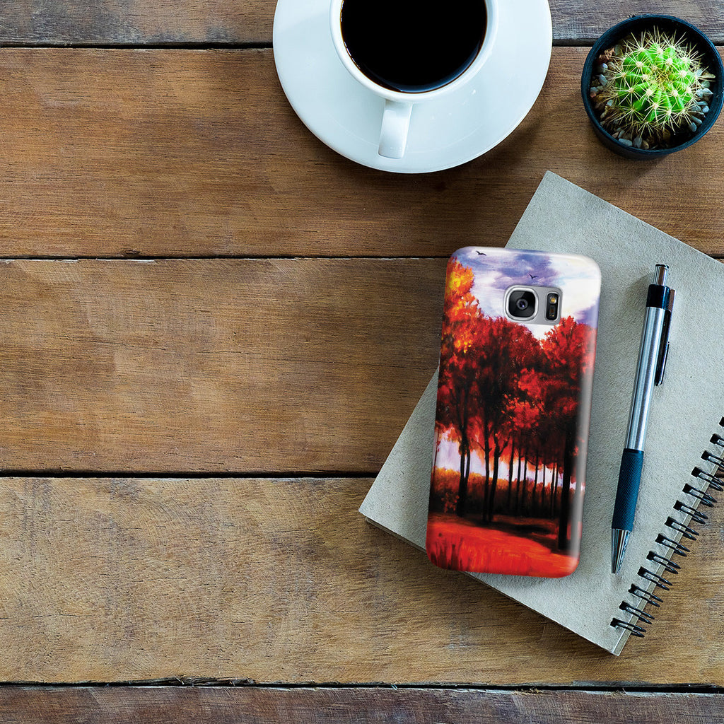 Galaxy S7 Edge Case - Autumn Landscape by Vincent Van Gogh