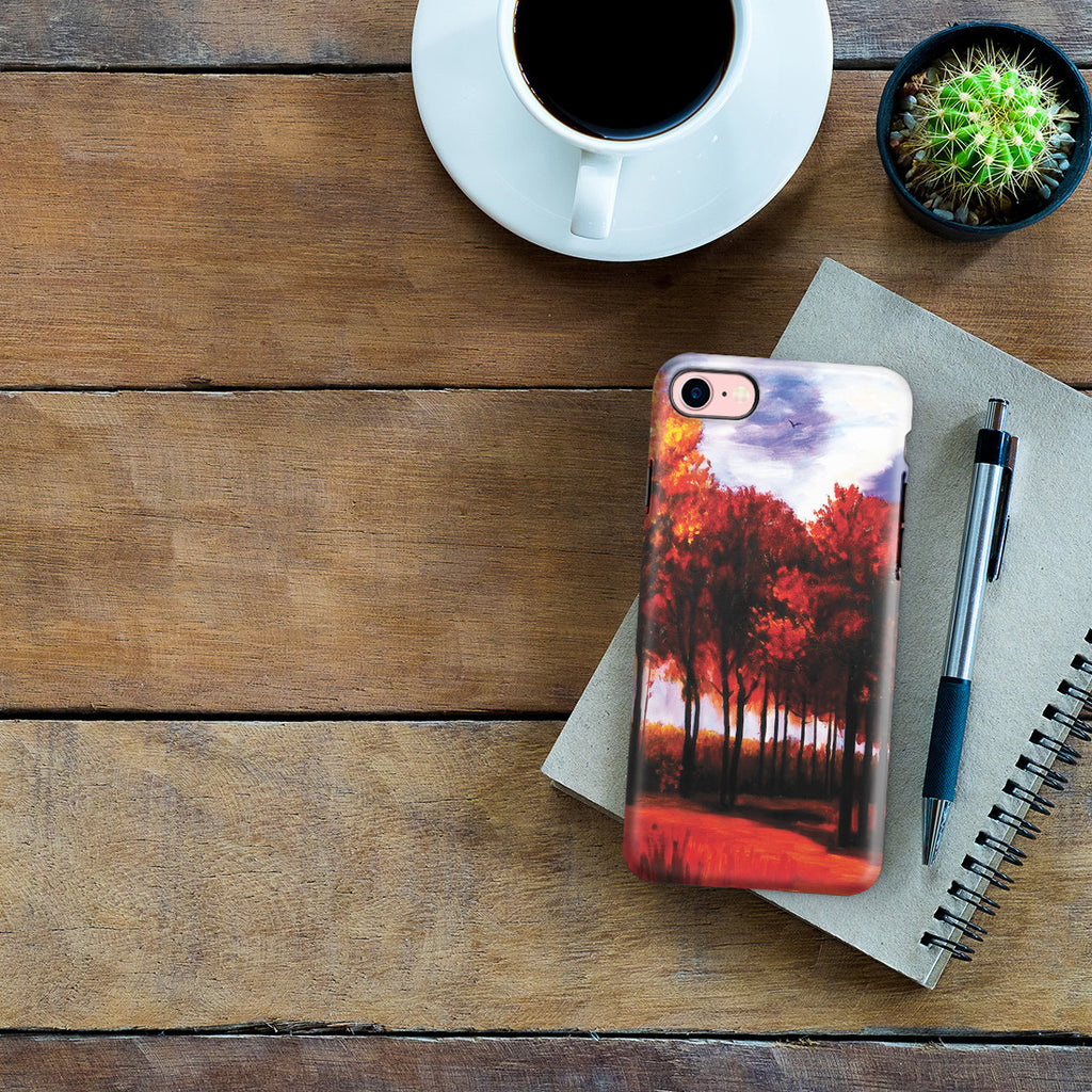 iPhone 7 Adventure Case - Autumn Landscape by Vincent Van Gogh