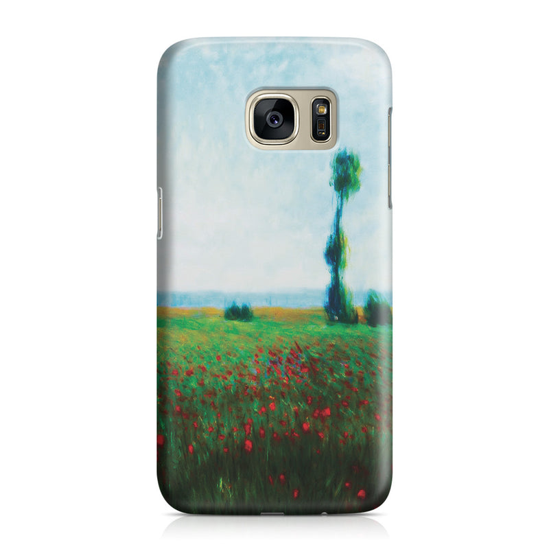 Galaxy S7 Case - The Fields of Poppies by Claude Monet