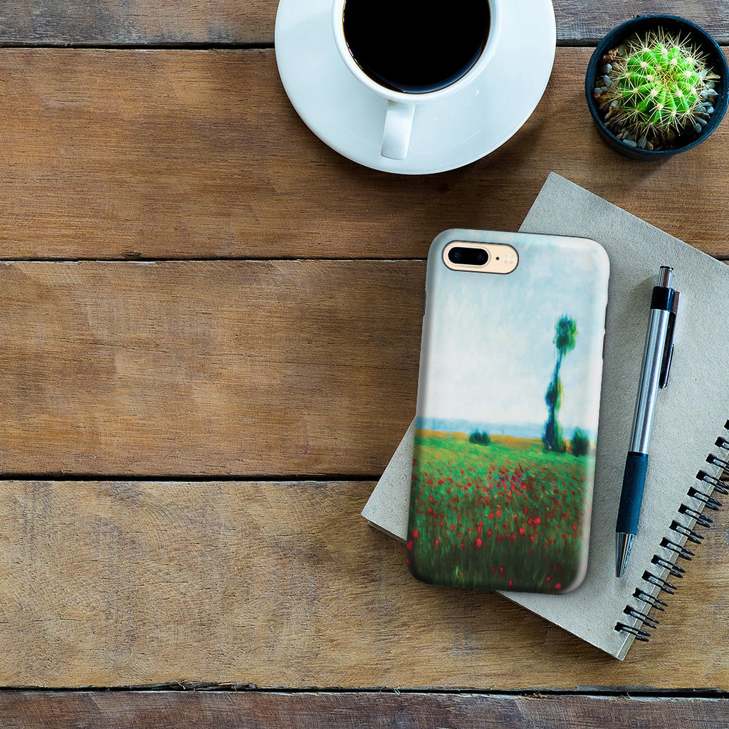 iPhone 7 Plus Adventure Case - The Fields of Poppies by Claude Monet