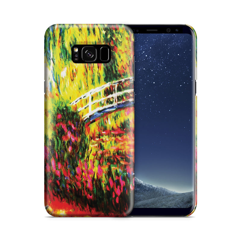 Galaxy S8 Case - The Japanese Bridge (The Water-Lily Pond, Water Irises) by Claude Monet