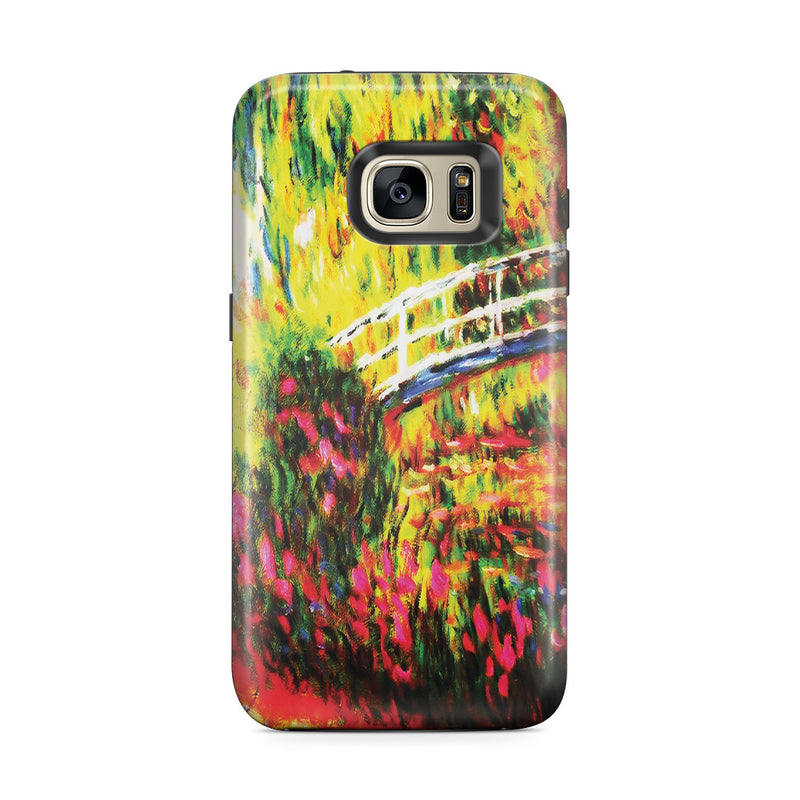 Galaxy S7 Edge Adventure Case - The Japanese Bridge (The Water-Lily Pond, Water Irises) by Claude Monet