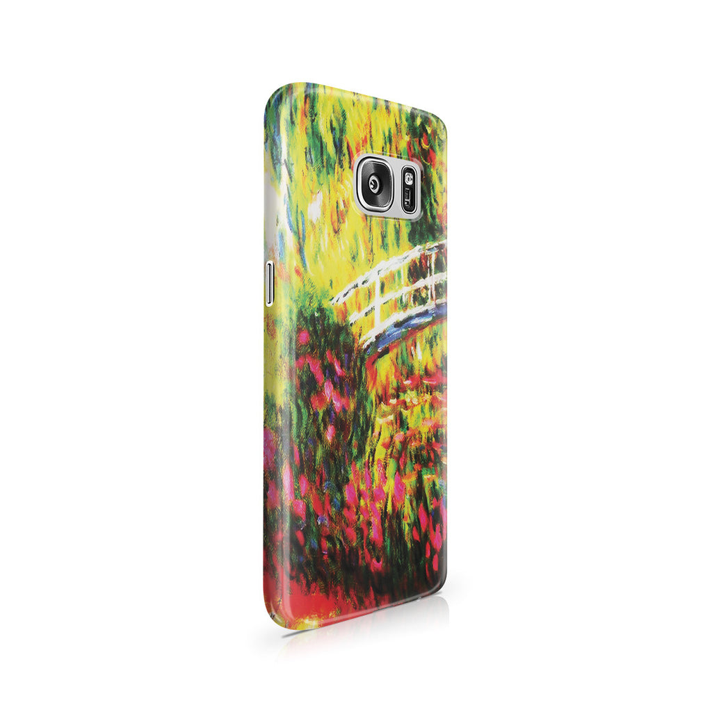 Galaxy S7 Case - The Japanese Bridge (The Water-Lily Pond, Water Irises) by Claude Monet