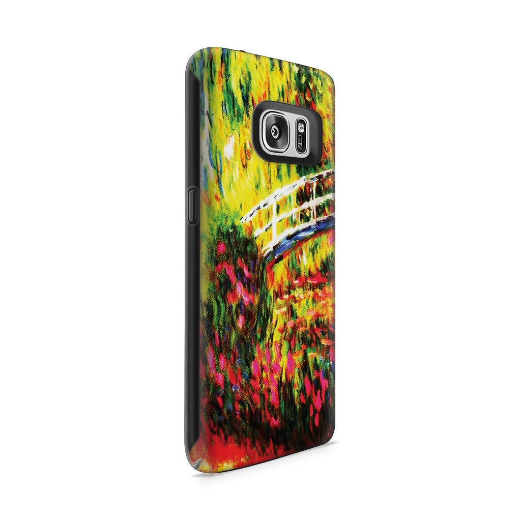 Galaxy S7 Adventure Case - The Japanese Bridge (The Water-Lily Pond, Water Irises) by Claude Monet