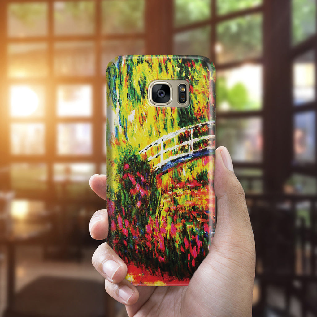 Galaxy S7 Edge Case - The Japanese Bridge (The Water-Lily Pond, Water Irises) by Claude Monet