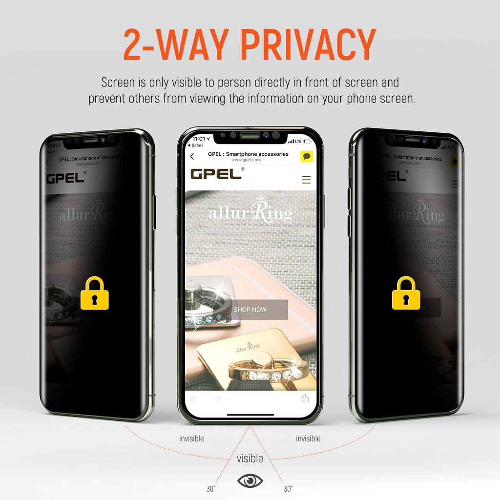 iPhone XS Max Privacy Real Tempered Glass Screen Protector