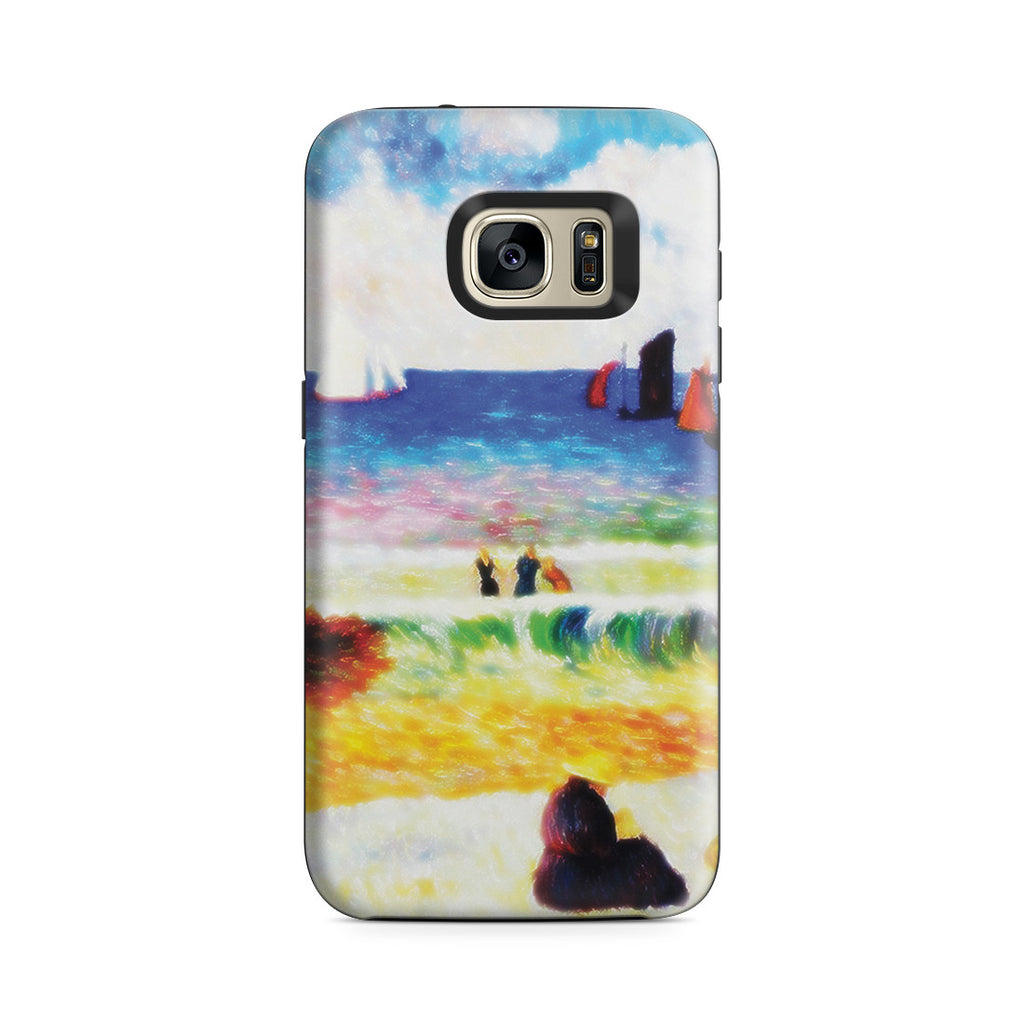 Galaxy S7 Adventure Case - Bathing, Dieppe, 1885 by Paul Gauguin