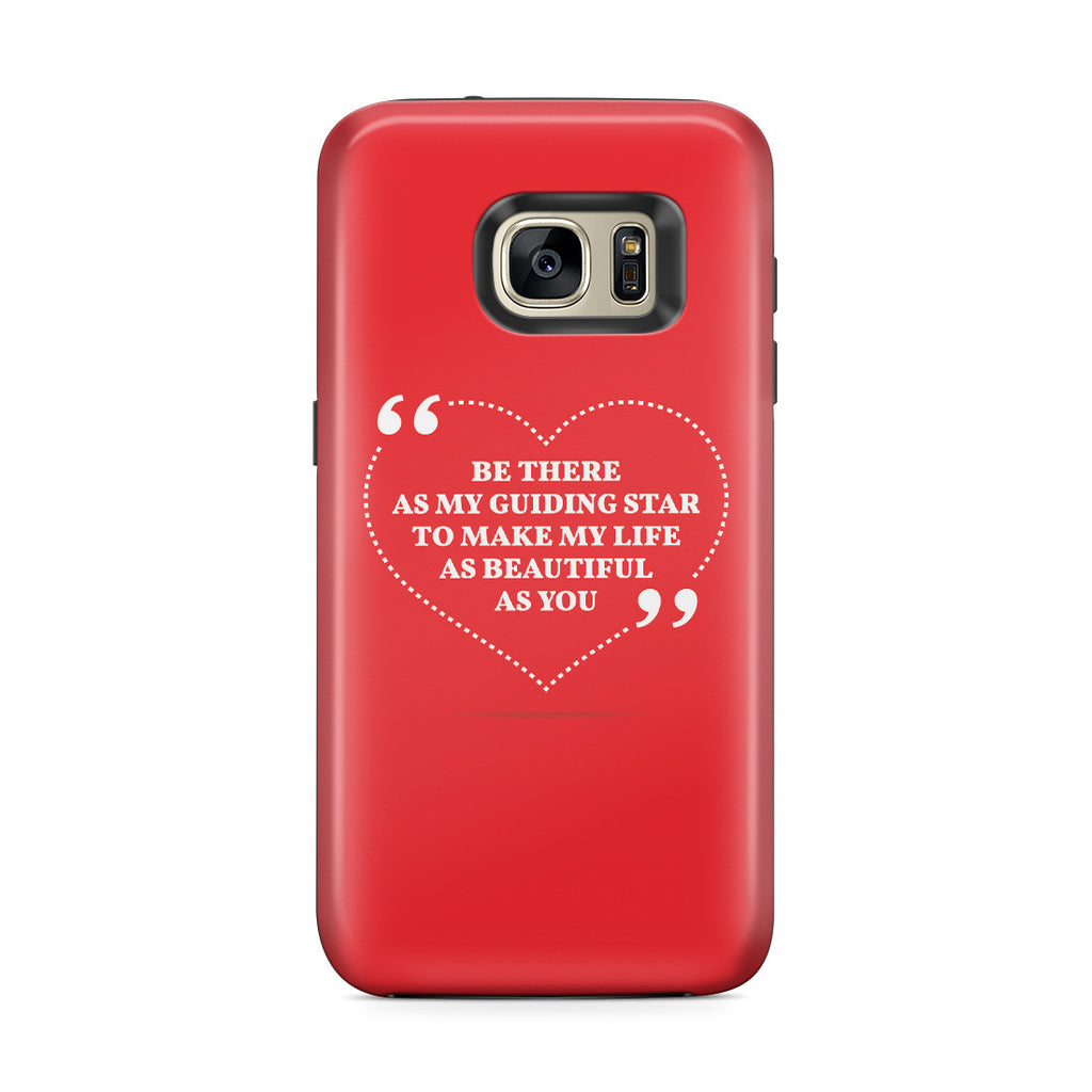 Galaxy S7 Edge Adventure Case - Love is Friendship Caught on Fire