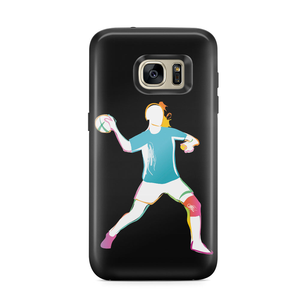 Galaxy S7 Edge Adventure Case - Woman Handball
