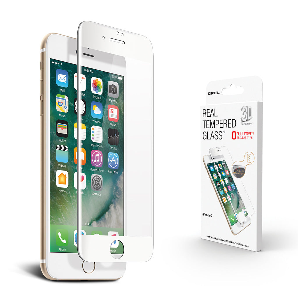 iPhone 7 Screen Protector - High-Definition (HD) 3D Curved Tempered Glass