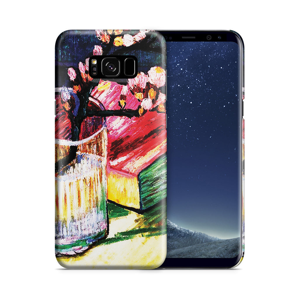 Galaxy S8 Case - Blossoming Almond Branch In a Glass with a Book, 1888 by Vincent Van Gogh