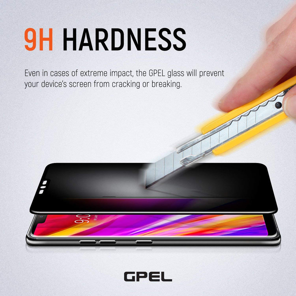 LG G7 ThinQ Privacy Screen Protector - Real Tempered Glass