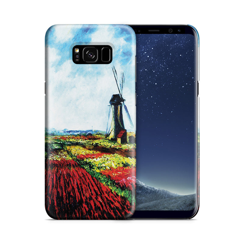 Galaxy S8 Case - Tulip Field with the Rijnsburg Windmill by Claude Monet
