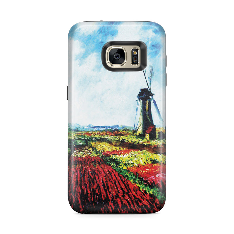 Galaxy S7 Edge Adventure Case - Tulip Field with the Rijnsburg Windmill by Claude Monet
