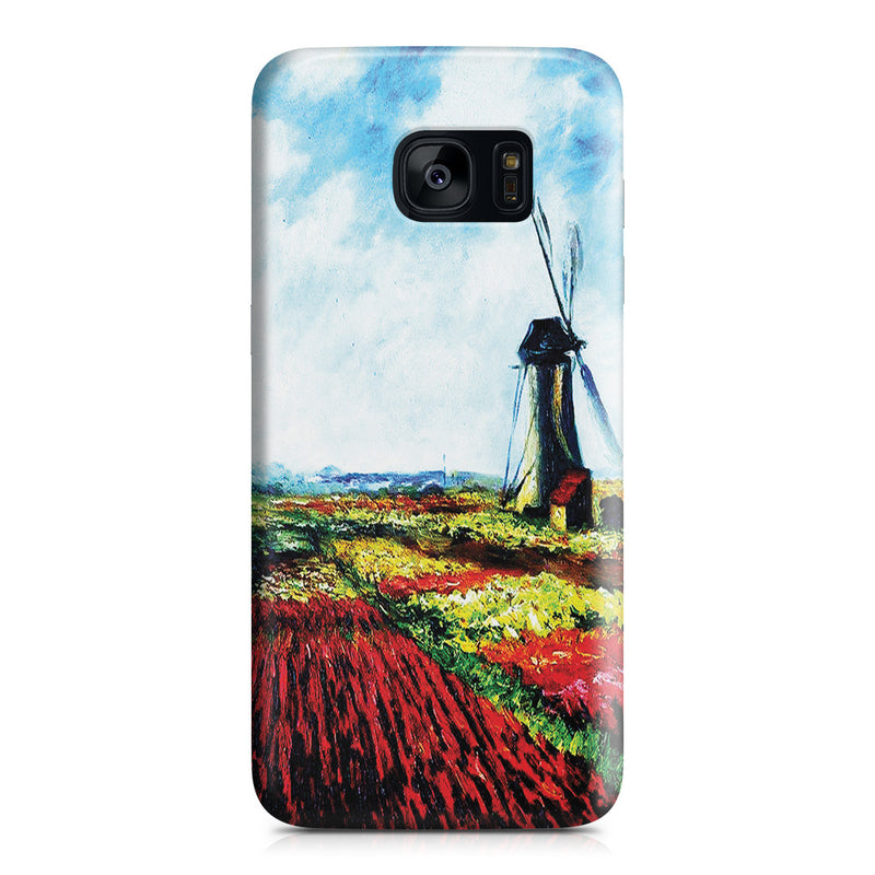 Galaxy S7 Edge Case - Tulip Field with the Rijnsburg Windmill by Claude Monet