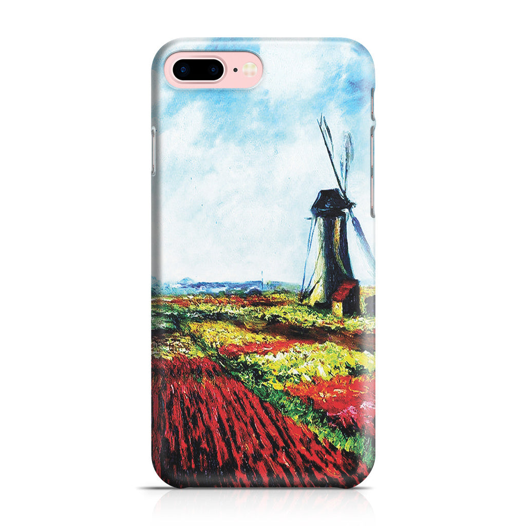 iPhone 7 Plus Case - Tulip Field with the Rijnsburg Windmill by Claude Monet