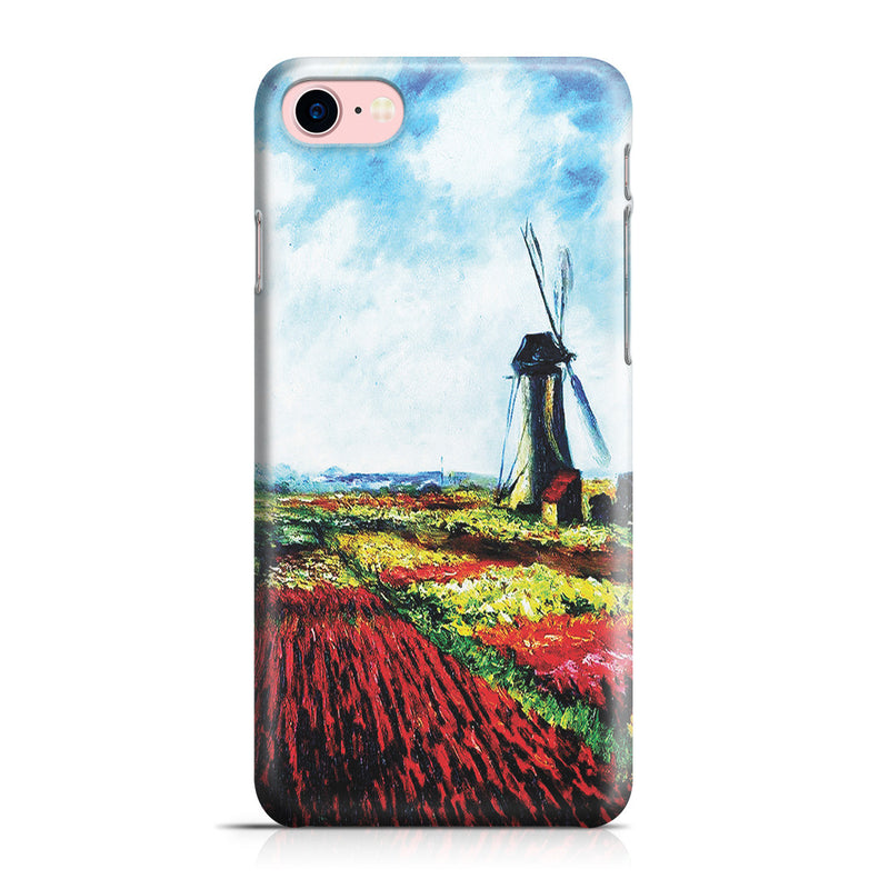 iPhone 7 Case - Tulip Field with the Rijnsburg Windmill by Claude Monet