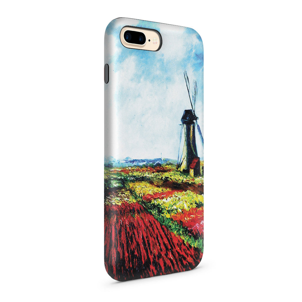 iPhone 7 Plus Adventure Case - Tulip Field with the Rijnsburg Windmill by Claude Monet