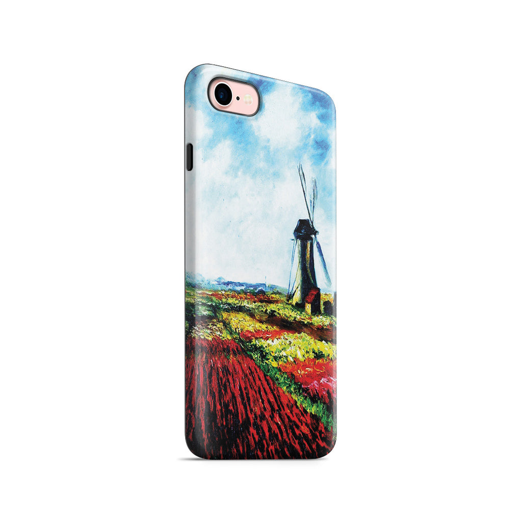 iPhone 7 Adventure Case - Tulip Field with the Rijnsburg Windmill by Claude Monet