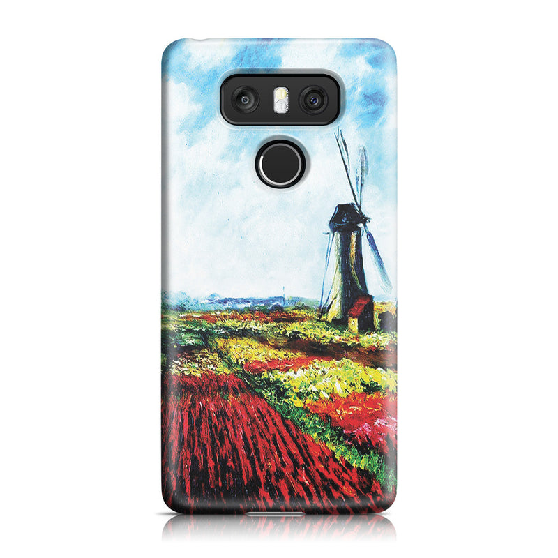 LG G6 Case - Tulip Field with the Rijnsburg Windmill by Claude Monet