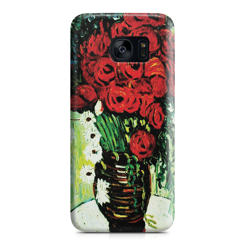 Galaxy S7 Edge Case - Vase with Daisies and Poppies by Vincent Van Gogh