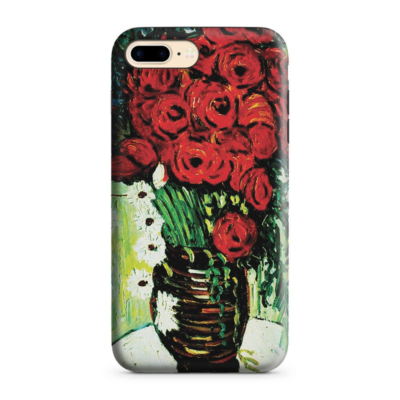 iPhone 8 Plus Adventure Case - Vase with Daisies and Poppies by Vincent Van Gogh